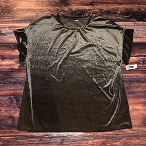 New Velvet Blouse with ruffled sleeves